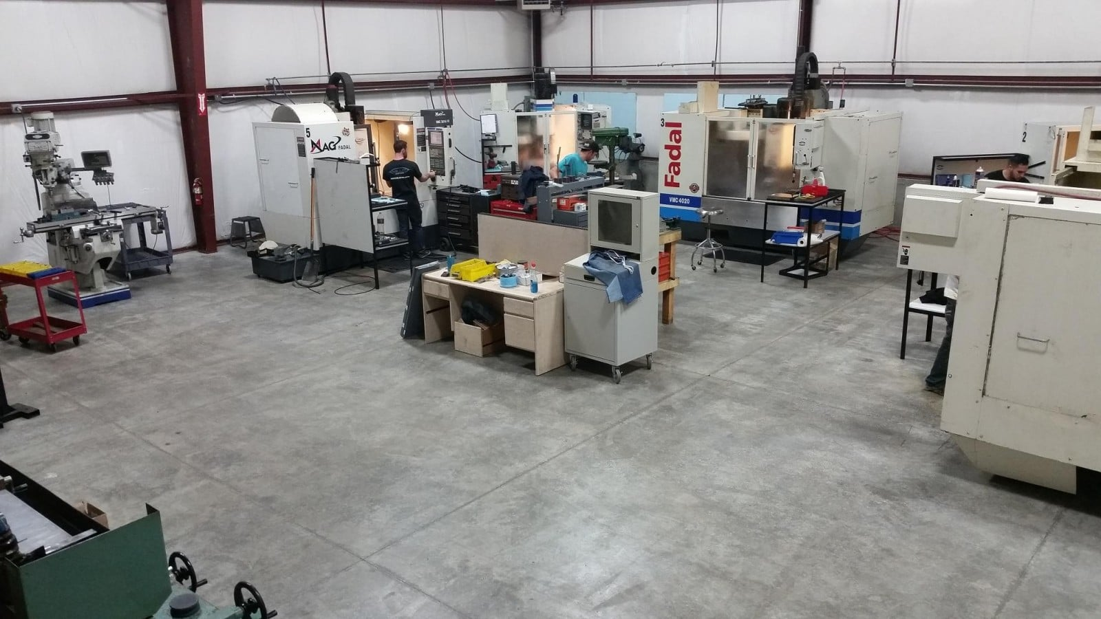 We are equipped with a full CNC machine, along with manual mill and lathe support equipment